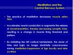 meditation and the central nervous system