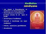 meditation jaindhyana