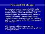 permanent eeg changes