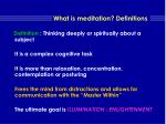 what is meditation definitions9