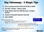 key takeaways 5 magic tips
