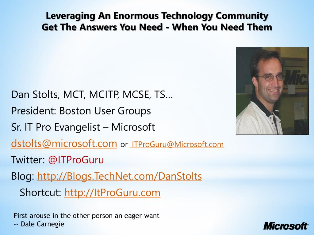 leveraging an enormous technology community get the answers you need when you need them l.