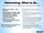 networking what to do