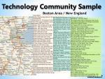 technology community sample