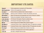important cte dates