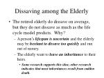 dissaving among the elderly