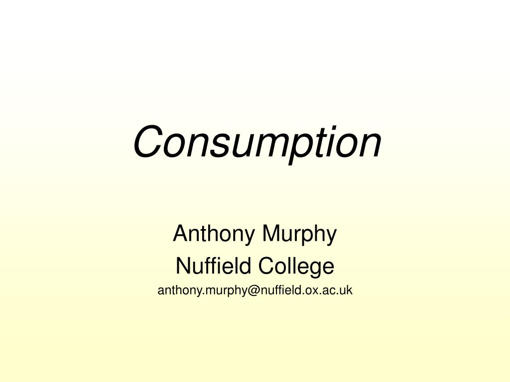 consumption l.