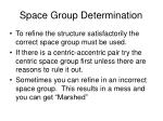space group determination15