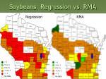soybeans regression vs rma