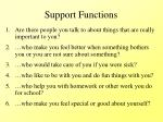 support functions