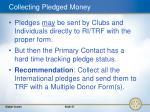 collecting pledged money
