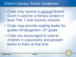 district literacy grants guidelines