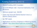 funding guidelines 2012 13