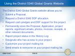 using the district 5340 global grants website