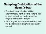 sampling distribution of the mean x bar34