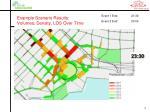 example scenario results volumes density los over time19