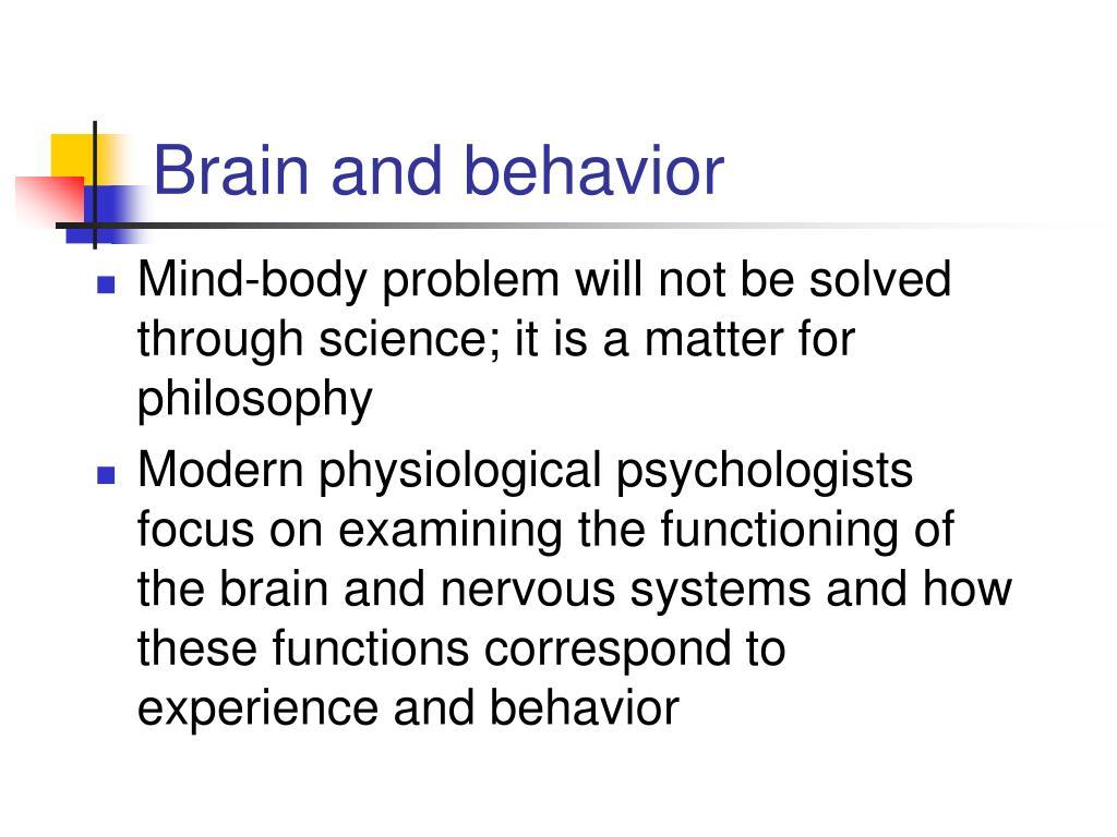 brain and behavior l.