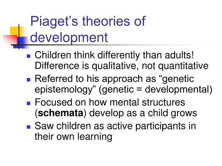 piaget states children constructs understanding differently than adults Jean piaget: a cognitive account of in what ways do they think differently than adults egocentrism of children young children cannot understand how the world.