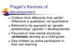 piaget s theories of development