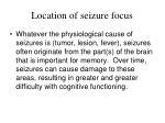 location of seizure focus
