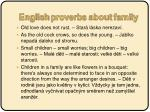 english proverbs about family