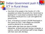 indian government push for ict in rural areas