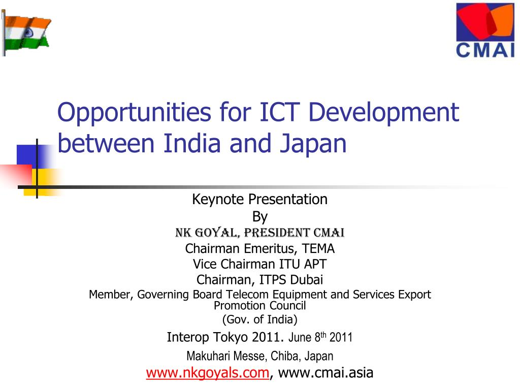 opportunities for ict development between india and japan l.