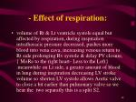 effect of respiration