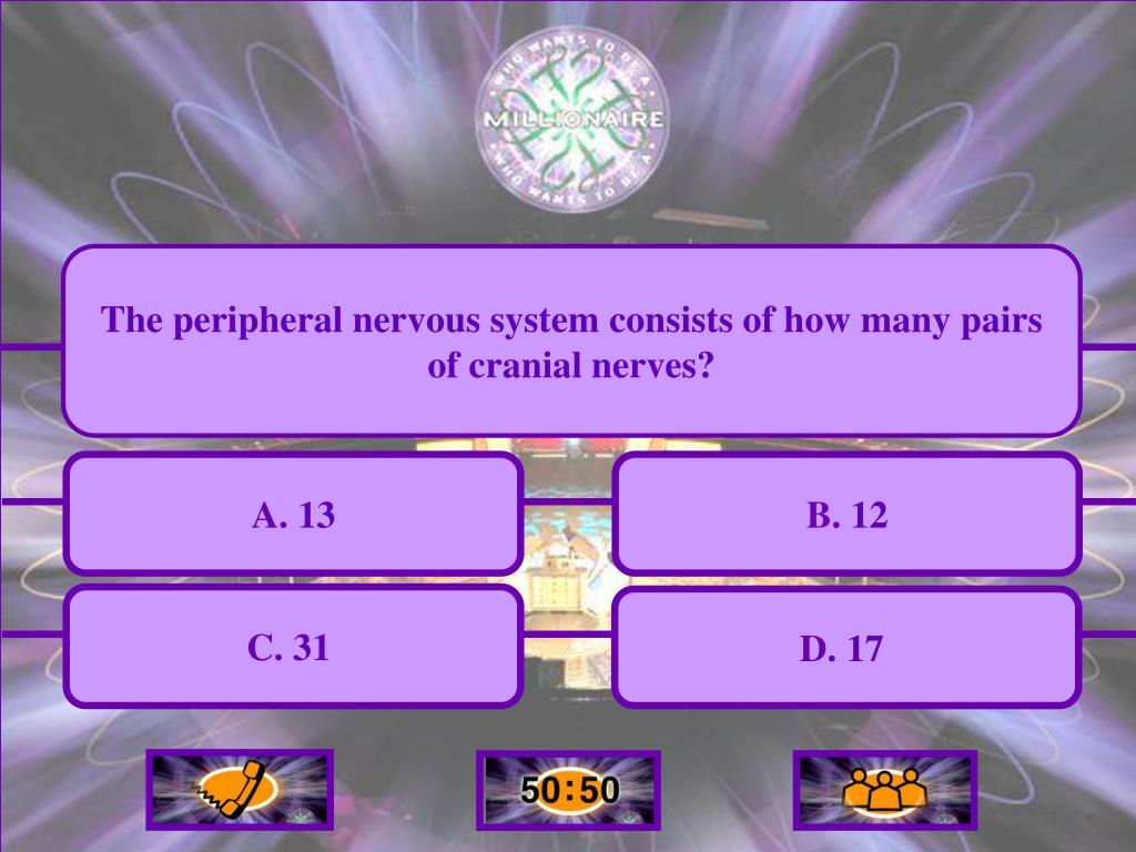 The peripheral nervous system consists of how many pairs of cranial nerves?