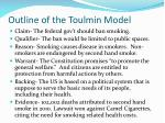 outline of the toulmin model