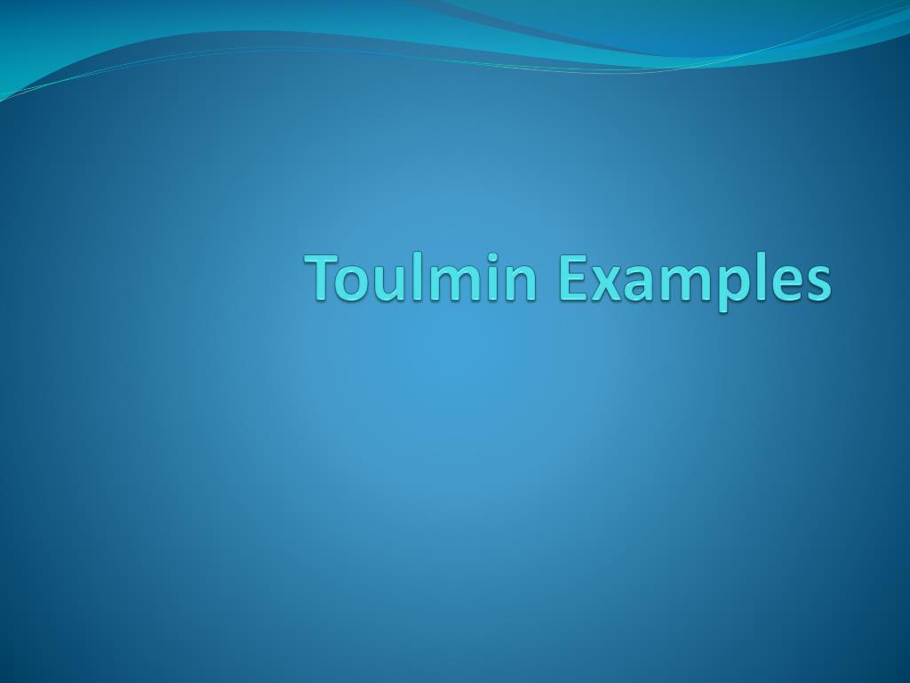 toulmin examples l.