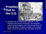 priestley fled to the u s