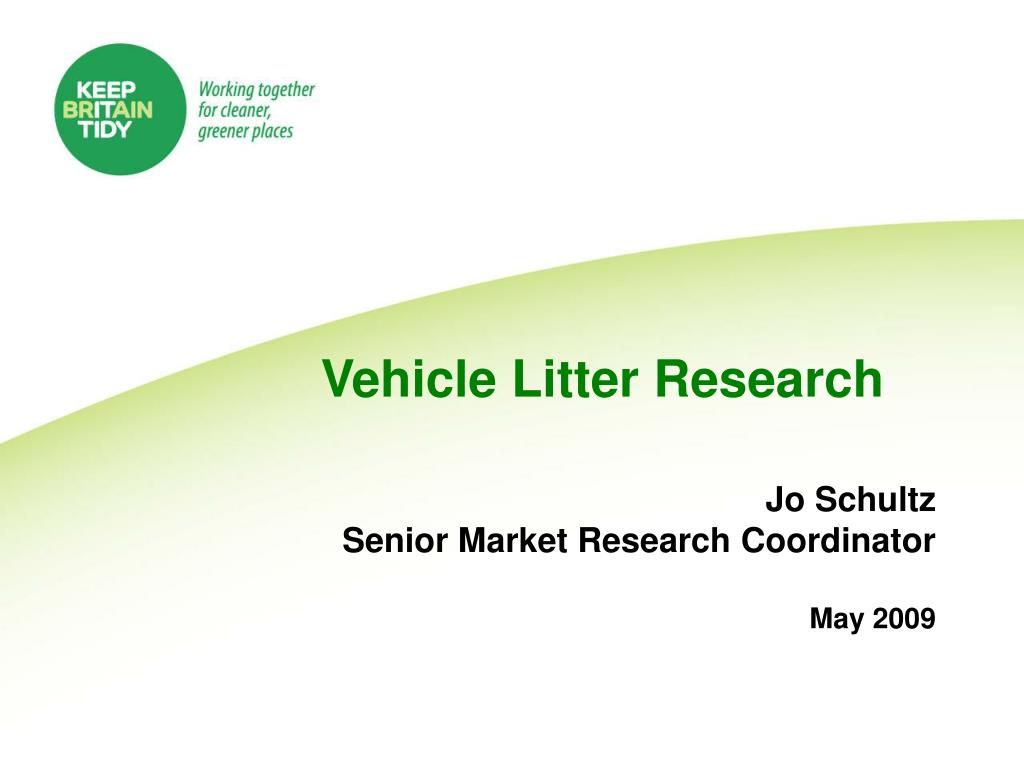 vehicle litter research l.