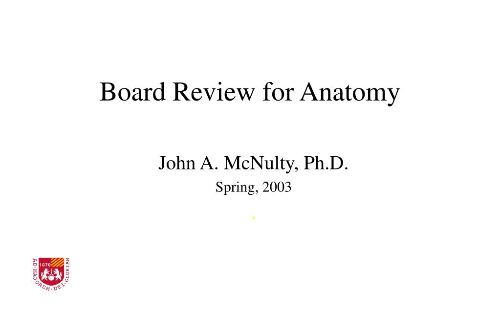 board review for anatomy l.