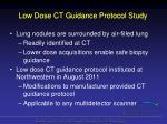 low dose ct guidance protocol study