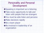 personality and personal development