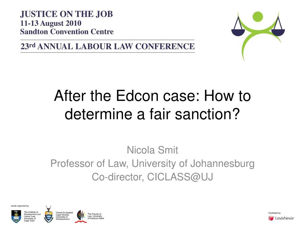 after the edcon case how to determine a fair sanction l.