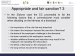 appropriate and fair sanction 3