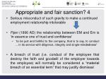 appropriate and fair sanction 4