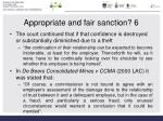 appropriate and fair sanction 6