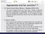 appropriate and fair sanction 7