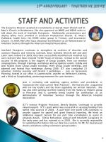 staff and activities