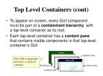 top level containers cont
