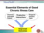 essential elements of good chronic illness care