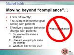 moving beyond compliance