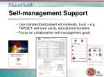 self management support