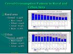 cereal consumption pattern in rural and urban area