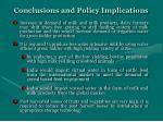 conclusions and policy implications16