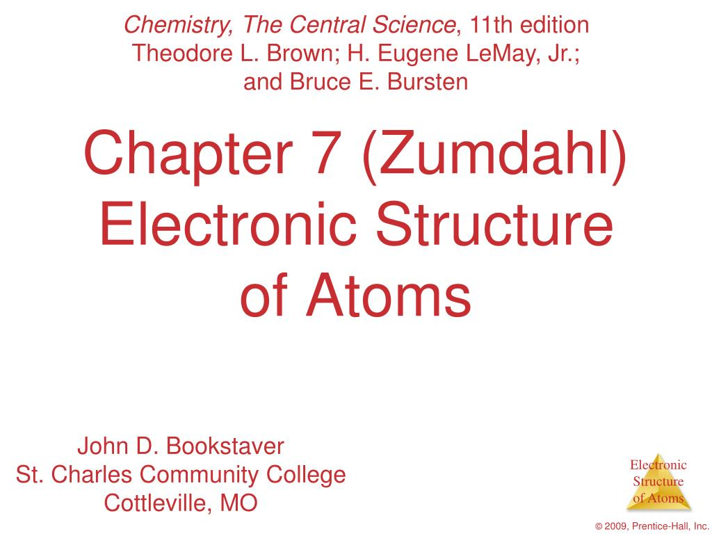 chapter 7 zumdahl electronic structure of atoms l.
