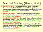 selected funding heath et al